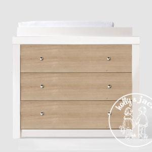 Holly & Jack Willow compactum white and wood with knobs