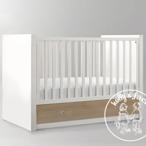 Willow COT WHITE & WOOD with knobs 1