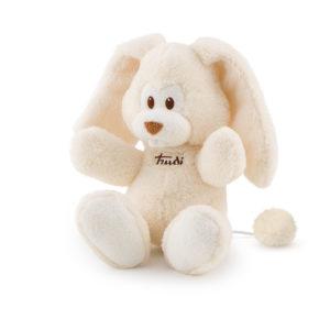 Rabbit music box ivory