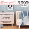 Modbaby cot and compactum Aug Sept 2019