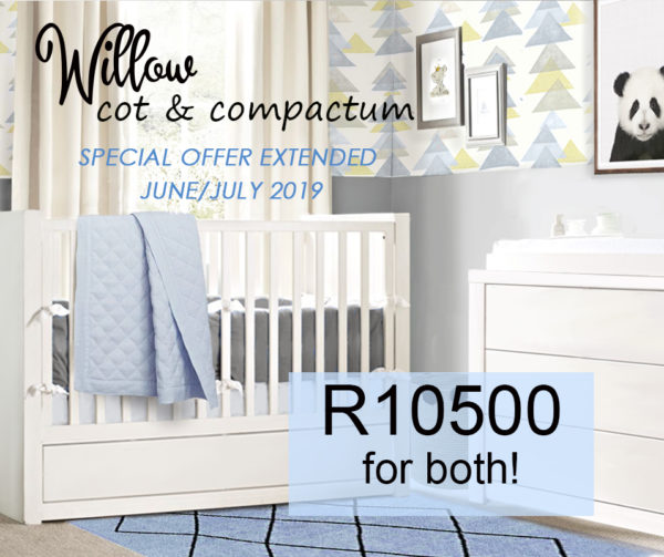 WILLOW COT WHITE special offer jUNE jULY 2019
