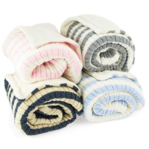Cable knit – fleece lined blankets