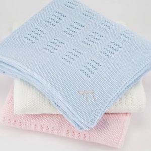 Holly-&-Jack-Rosie-&-Romie-White-lattice-baby-blanket-Hebrew-symbol-collage