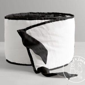 White bumper with black rim