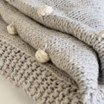 H & J BOBBLE BLANKET DOVE GREY 2