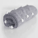 H & J BOBBLE BLANKET GREY