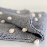 H & J BOBBLE BLANKET GREY 3